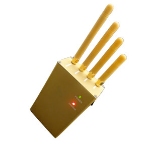 cell phone blocker portable - Handheld Cellphone GPS Jammer 3Watts output power + four Antennas