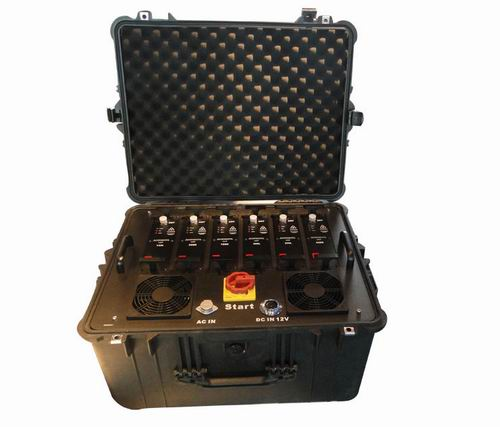 signal jammer United States - Portable Multi Band High Power VHF UHF Jammer for Military and VIP Vehicle Convoy Protection