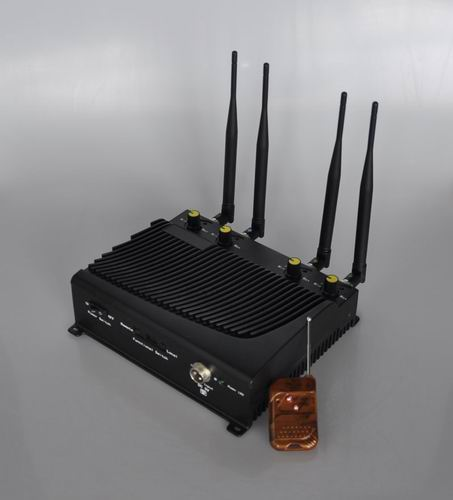 cellular data jammer line magazine - Adjustable 4 Band Desktop Mobile Phone Jammer with Remote Control