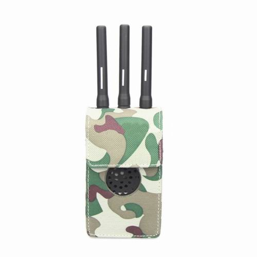 android phone signal blocker - Camouflage Design Fabric Material Portable Jammer Case