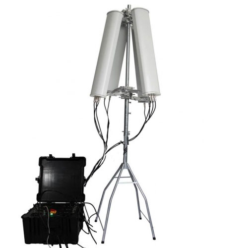 14 Antennas Jammer wholesale - 600W 4-8bands High Power Drone Jammer Jammer up to 2500m