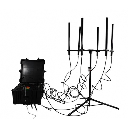 mobile jammer lowest price , 350W 4-8bands High Power Drone Jammer Jammer up to 2000m