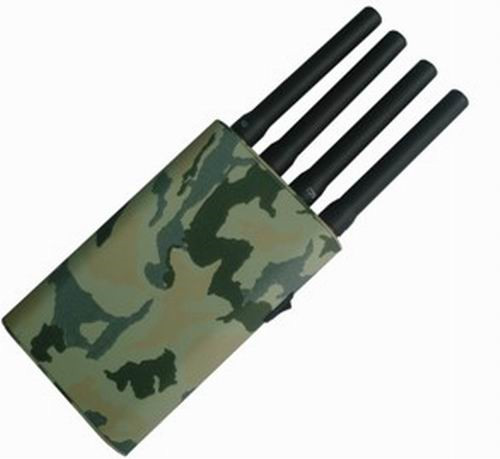 cell phone data jammer - Portable Mobile Phone & GPS Jammer with Camouflage Cover