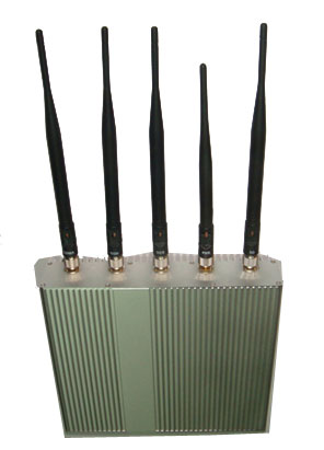 cellular data jammer gun - 5 Antenna Cell Phone jammer+ Remote Control (3G, GSM, CDMA, DCS)