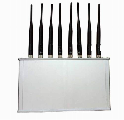 gps blocker Sylvania - High Power 8 Antennas 16W 3G 4G Mobile phone WiFi Jammer with Cooling Fan