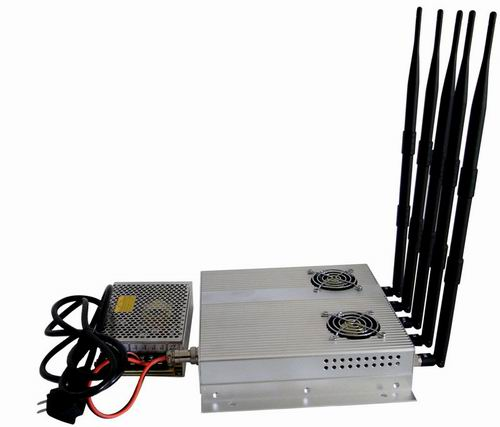cell phone jammer Russian Federation - 5 Antenna 25W High Power 3G Cell phone Jammer with Outer Detachable Power Supply