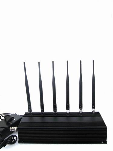 cell phone blocker device - 6 Antenna Cell phone 3G,WiFi & RF Jammer (315MHz/433MHz)