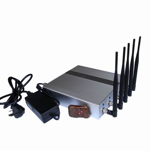 camera jammer - 5 Band High Power 3G 4G Wimax Cell Phone Jammer with Remote Control