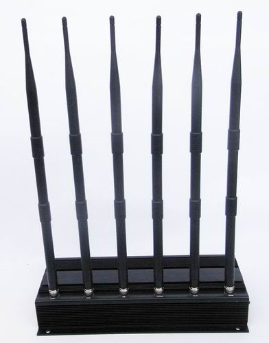 6 Antenna GPS, UHF, Lojack and Cell Phone Jammer (3G, GSM, CDMA, DCS)