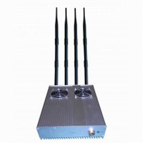 signal blocker Darlinghurst - 20W Powerful Desktop GPS 3G Mobile Phone Jammer with Outer Detachable Power Supply