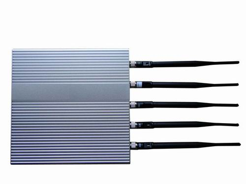 satellite jammer - 5 Antenna Cell Phone jammer(3G,GSM,CDMA,DCS,PHS)