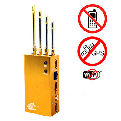 jammercportable - Powerful Golden Portable Cell phone & Wi-Fi & GPS Jammer