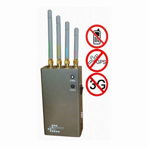 military cell phone jammers - 5-Band Portable Cell Phone 2G 3G & GPS Jammer