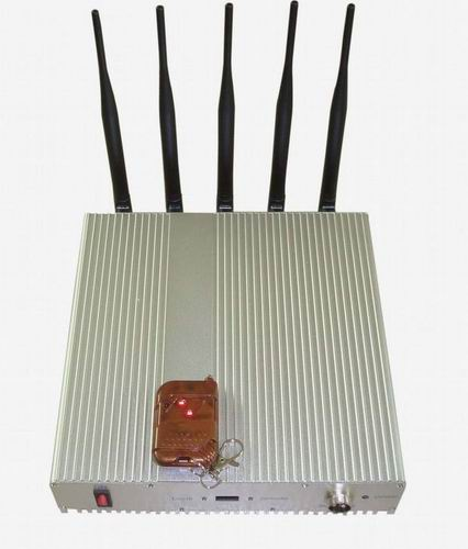 mobile jammer delhi university - 5 Band Cellphone Lojack GPS Jammer with Remote Control