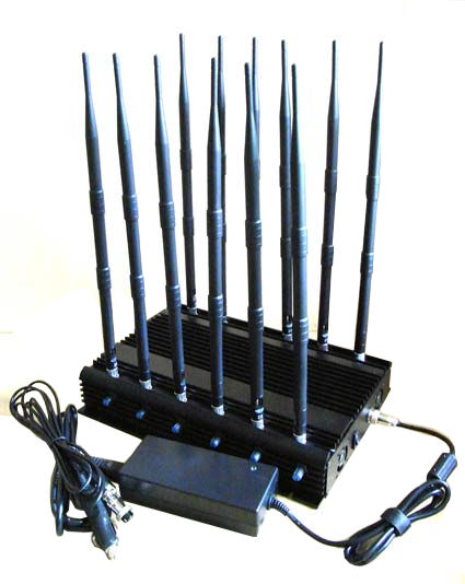 Wholesale 12-band Jammer GSM DCS Rebolabile 3G 4G WIFI GPS and RF Bugs from 130 to 500 Mhz
