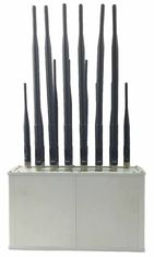 cell phone jammer report - 16 Band Desktop Moible phone CDMA GSM 3G 4G Wi-Fi Lojack VHF,UHF Radio All Bands Jammer