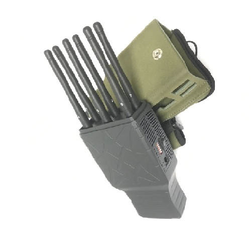 Handy UHF VHF Jammer - Handheld 6 Bands All CellPhone and WIFI Signal Jammer with Nylon Case