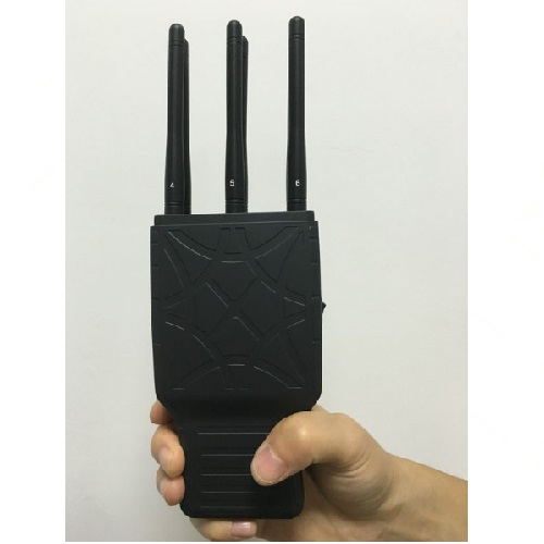 Handheld 6 Bands GSM CDMA 3G and Lojack GPS Signal Jammer with Nylon Case