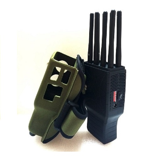 10 Antennas 310Mhz Jammer - Handheld 8 Bands All CellPhone and WIFI LOJACK GPS Signal Jammer with Nylon Case